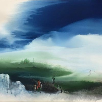 Landscapes Depict Elements Of Nature Be It A Village Scenery Original Certified Landscape Art With More With Images Landscape Paintings Famous Indian Artists Landscape