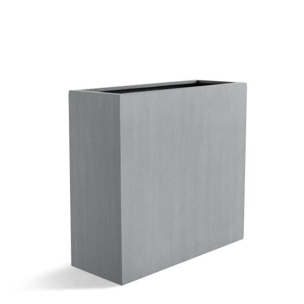 Pflanzkubel Blumentopfe Raumteiler Argento High Box Betongrau