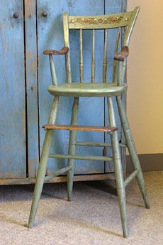 Windsor Youth Chair Circa 1820 1840 Thumback With Original Stenciling