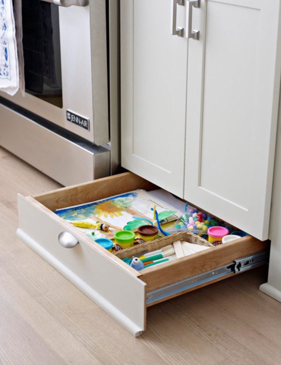 Thank Goodness Someone Thought Of Toe Kick Drawers Base Cabinet Storage Home Organization Storage