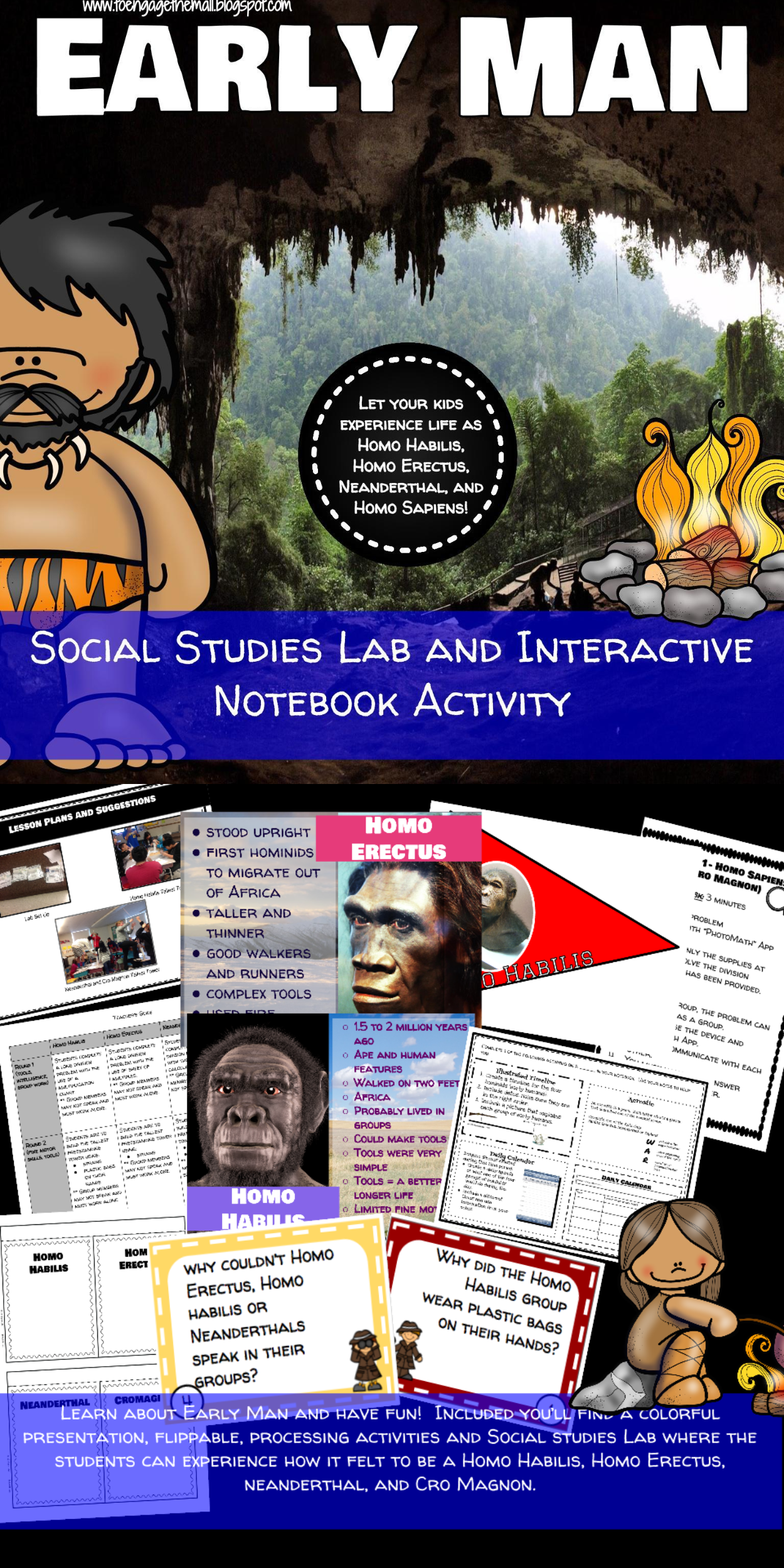 Early Man Hominid Social Stu S Lab And Interactive