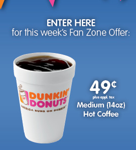 Dunkin Donuts Coupon 0 49 Hot Coffee Greater Philly Area