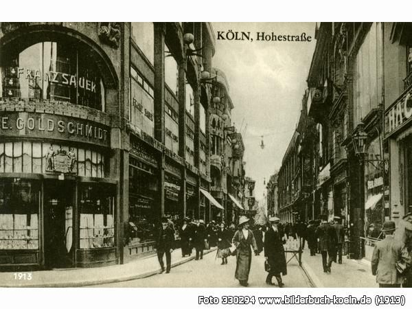 Bilderbuch Koln Betrieb Auf Der Hohe Strasse Vor 100 Jahren Bilder Schone Stadte Deutschland Hauptstrasse