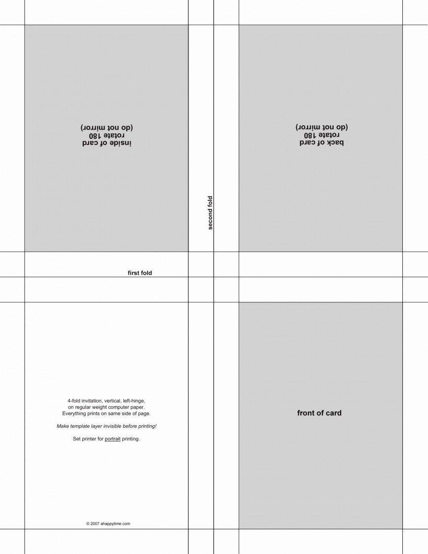 Quarter Fold Card Template Word Graduation Invitations Template Note Card Template Postcard Template
