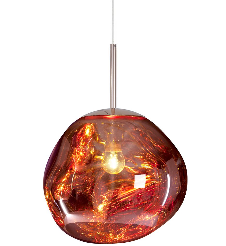 Tom Dixon Mes02coul Melt Mini Pendant Copper In 2020 Copper Pendant Lights Ceiling Pendant Lights Tom Dixon Melt