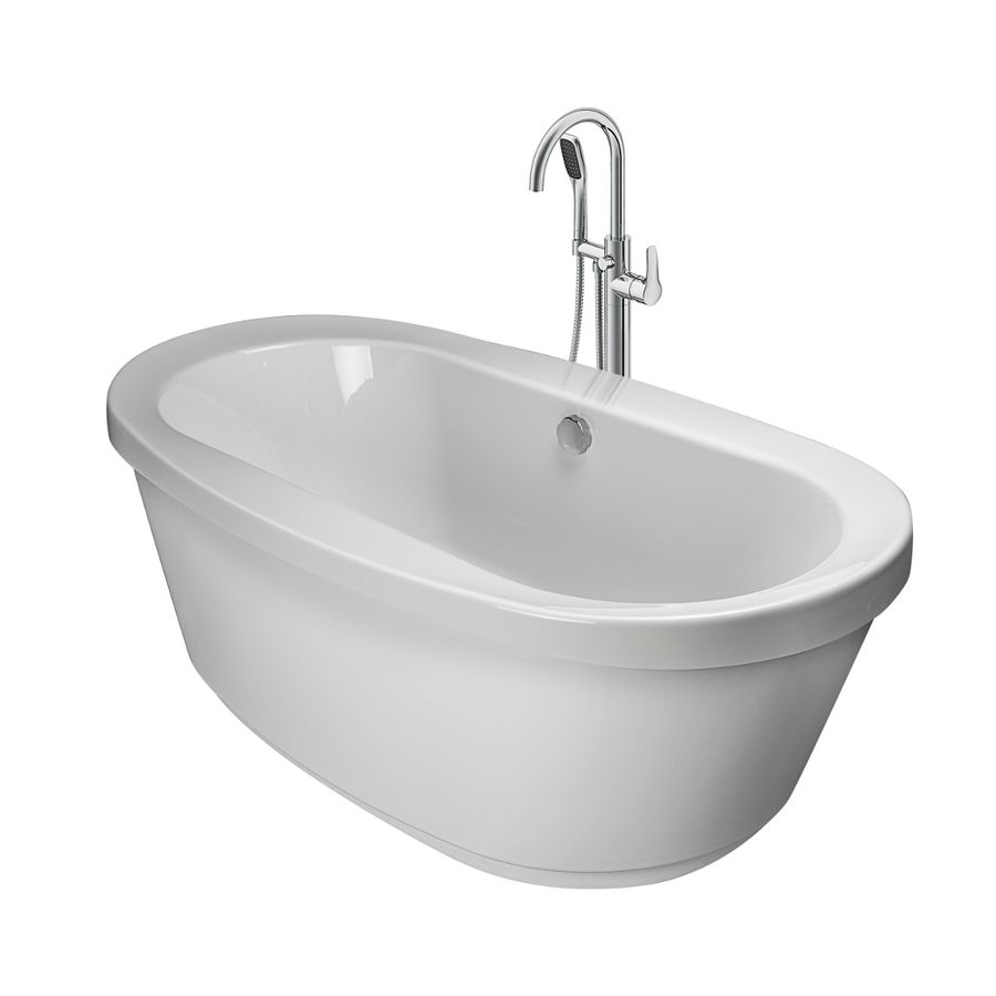 Jacuzzi Inizio 65.5-In White Acrylic Bathtub With Center Drain ...