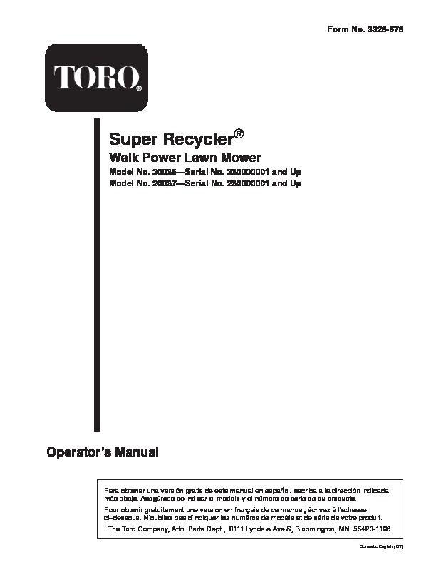 toro lawn mower model 20037 toro 20036 20037 21 inch super rh pinterest com toro owners manual download toro owners manual snowblower