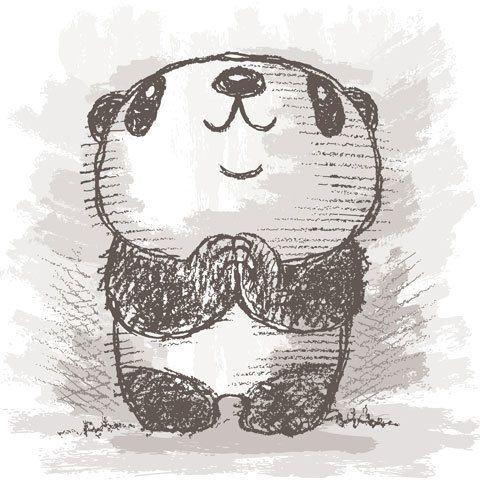Panda drawing 5, Toru Sanogawa