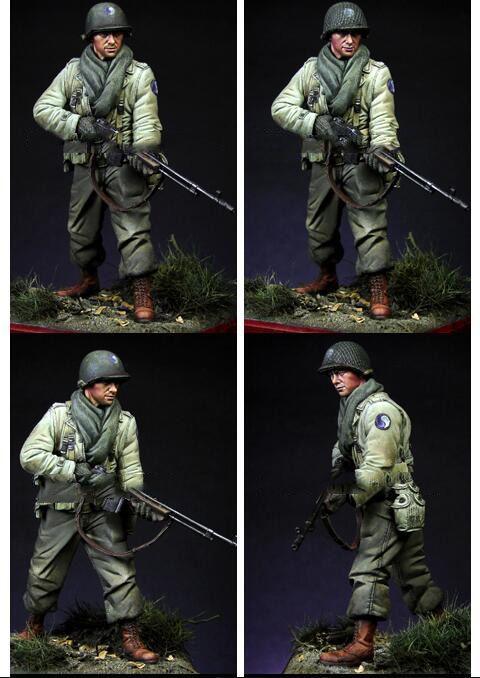 1//16 Resin Figure Model Kit German Soldier Mountain Troops WWII Unpainted