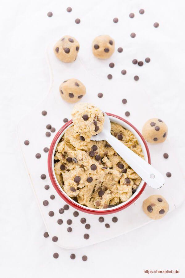 Keksteig zum Löffeln - Cookie Dough Teig selbermachen