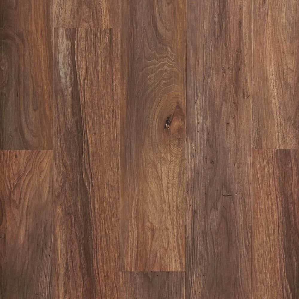 NuCore Smoked Walnut Wide Hand Scraped Plank with Cork Back - 6.5mm ...