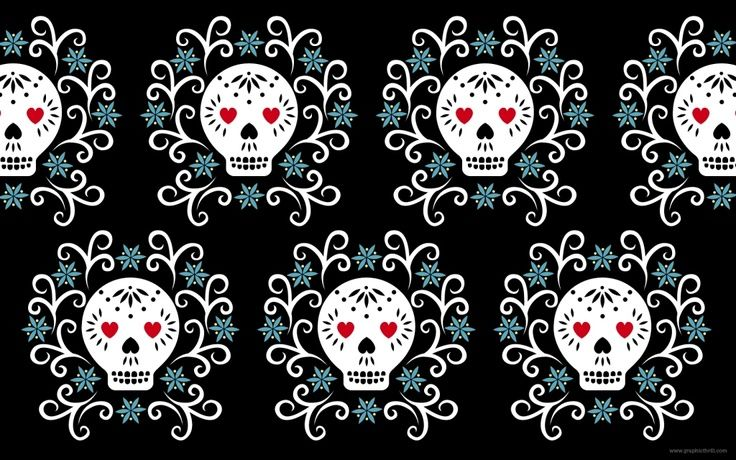 Here Is A Free Wallpaper To Decorate Your Desktop Inspired By The Mexican Day Of Dead Festival It 1680 X 1050 In Size And Available For Downloa