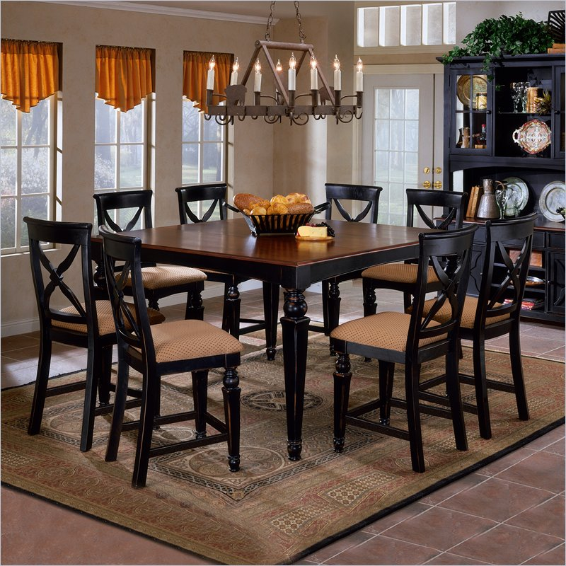 Hillsdale Northern Heights 5 Piece Dining Set With Counter Height Table In Black An Square Dining Tables Counter Height Dining Table Counter Height Dining Sets