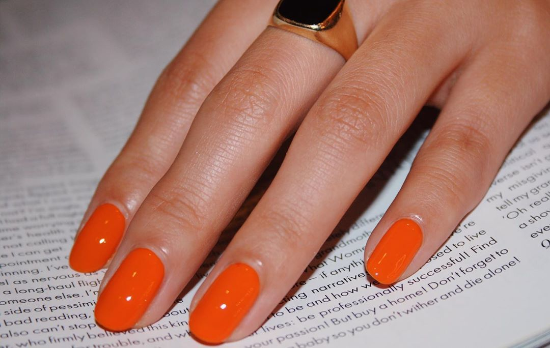 """IMARNI NAILS on Instagram: """"Perfect summer Orange � CLEMENTINE � Gel effect polish...... also looks amazing in matte � Not for international shipping"""""""