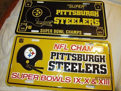 Mini Kühlschrank Nfl : Lot of 2 vintage 1978 1970s pittsburgh steelers super bowl license