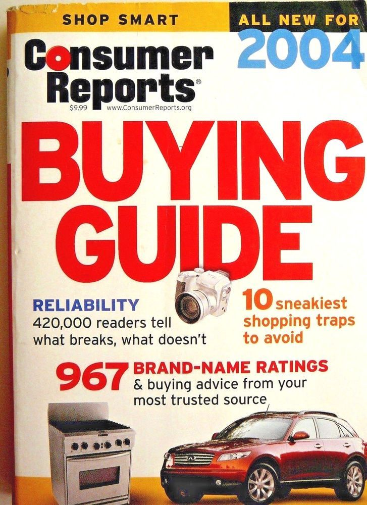 CONSUMER REPORTS Auto Reliability Guide 2004 CARS! Repair