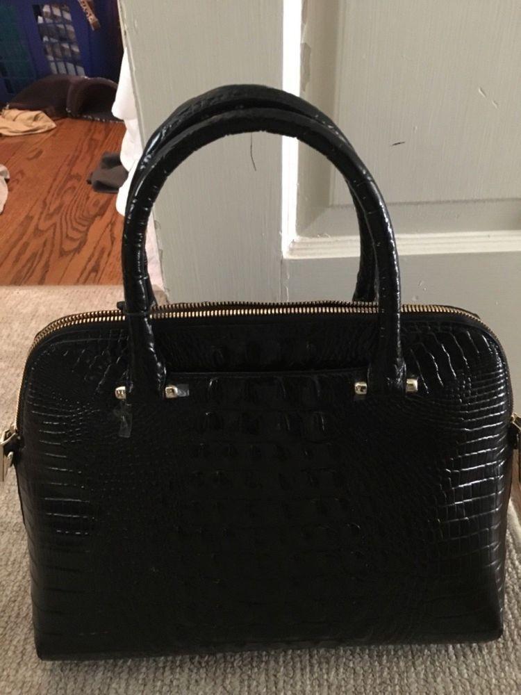 Brahmin Sydney Black Melbourne Leather Satchel Handbag Nwt 375
