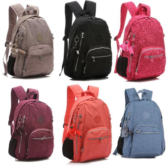 Men & women soild color printing backpacks ; children school bags ...