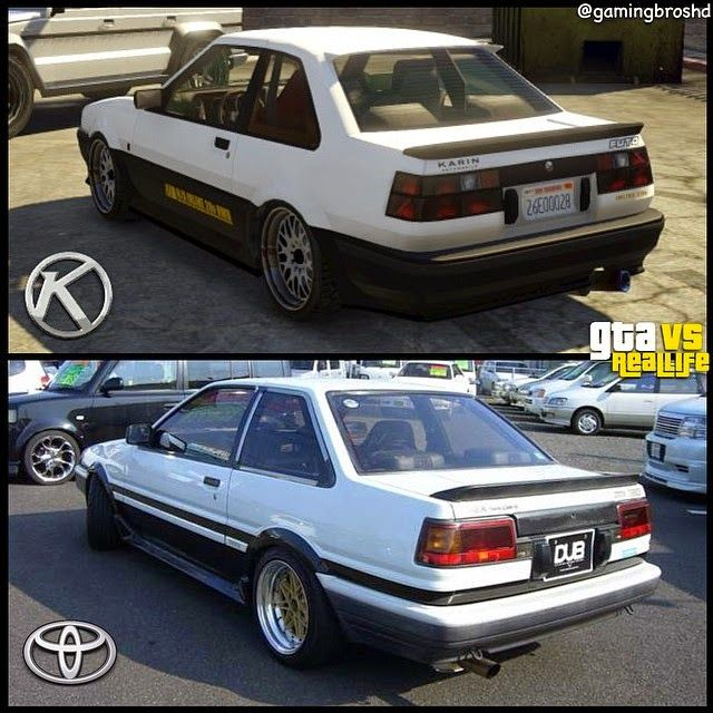 Karin Futo vs it's real life counterpart; the Toyota AE86 ...