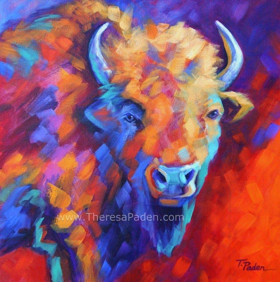 Southwestern Animal Art Bright Colorful Contemporary