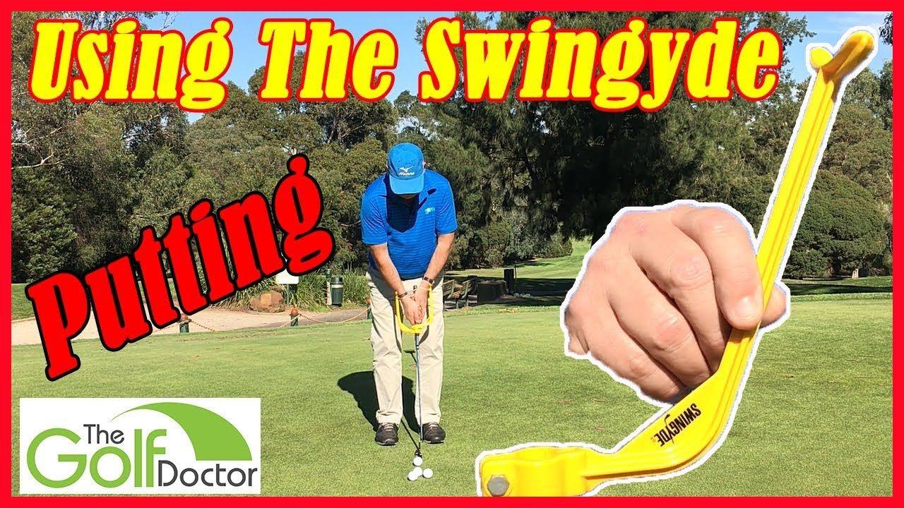 Swingyde Golf Swing Training Aid Putting Drills Electric
