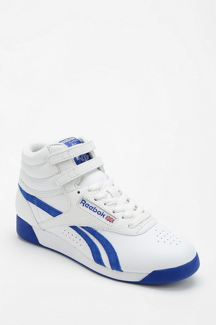 Reebok Freestyle Side-Stripe High-Top Sneaker