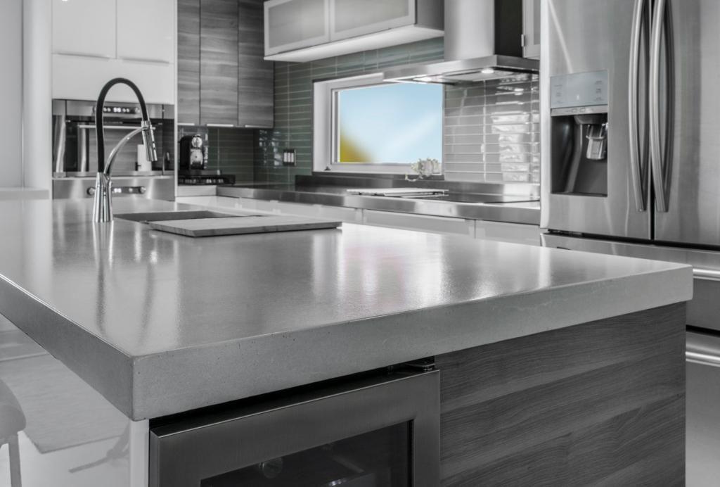 Béton Multi Surfaces - Comptoir de béton poli   La cuisine ...