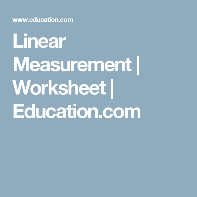 Linear Measurement Pinterest Measurement Worksheets Worksheets