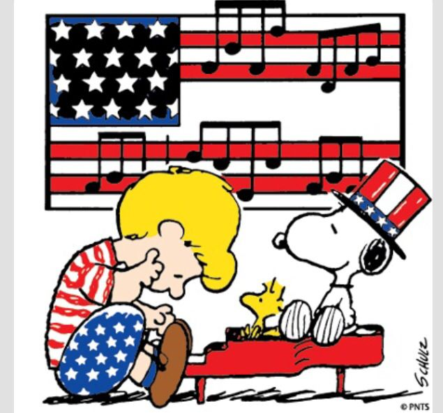 4th of july peanuts. Clip art th social