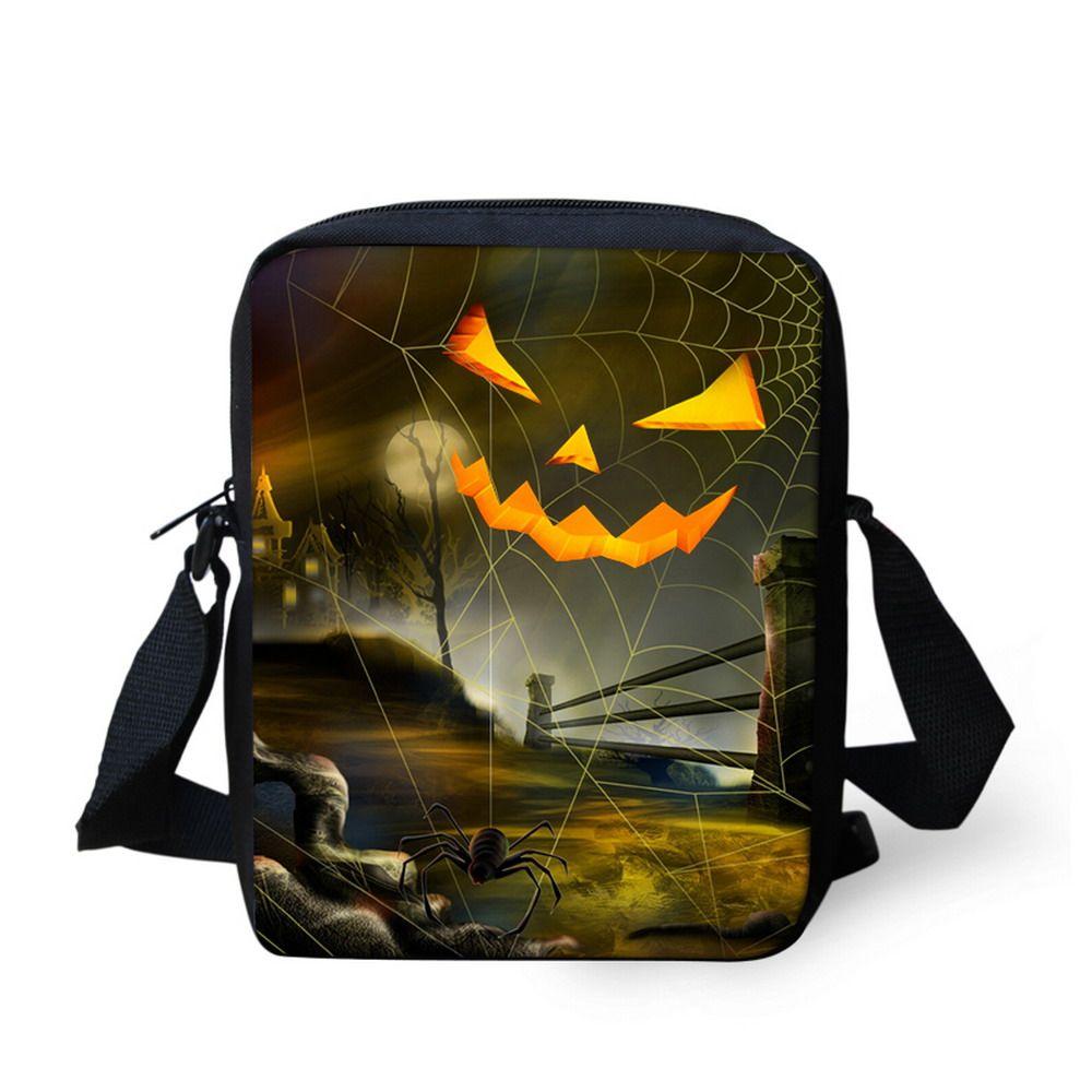Custom Halloween School Bags For Children Cool Pumpkin Boys Schoolbags Best Gifts Kindergarten Baby Book