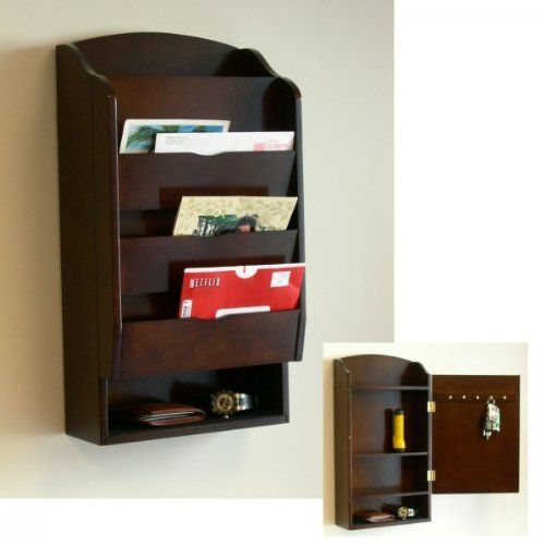 Door Entry Organizer With Mail Sorter In Mahogany Proman Products,http://www