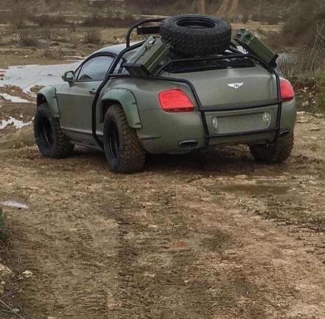 Bentley Continental Gt Off Roader Is That Even Possible If You Think That You Are Looking At A Mad Max Car Tha Offroad Vehicles Cool Sports Cars Super Cars