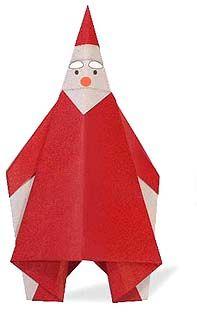 Origami Navidad Navideno Christmas Xmas Papa Noel Santa - Origami-papa-noel