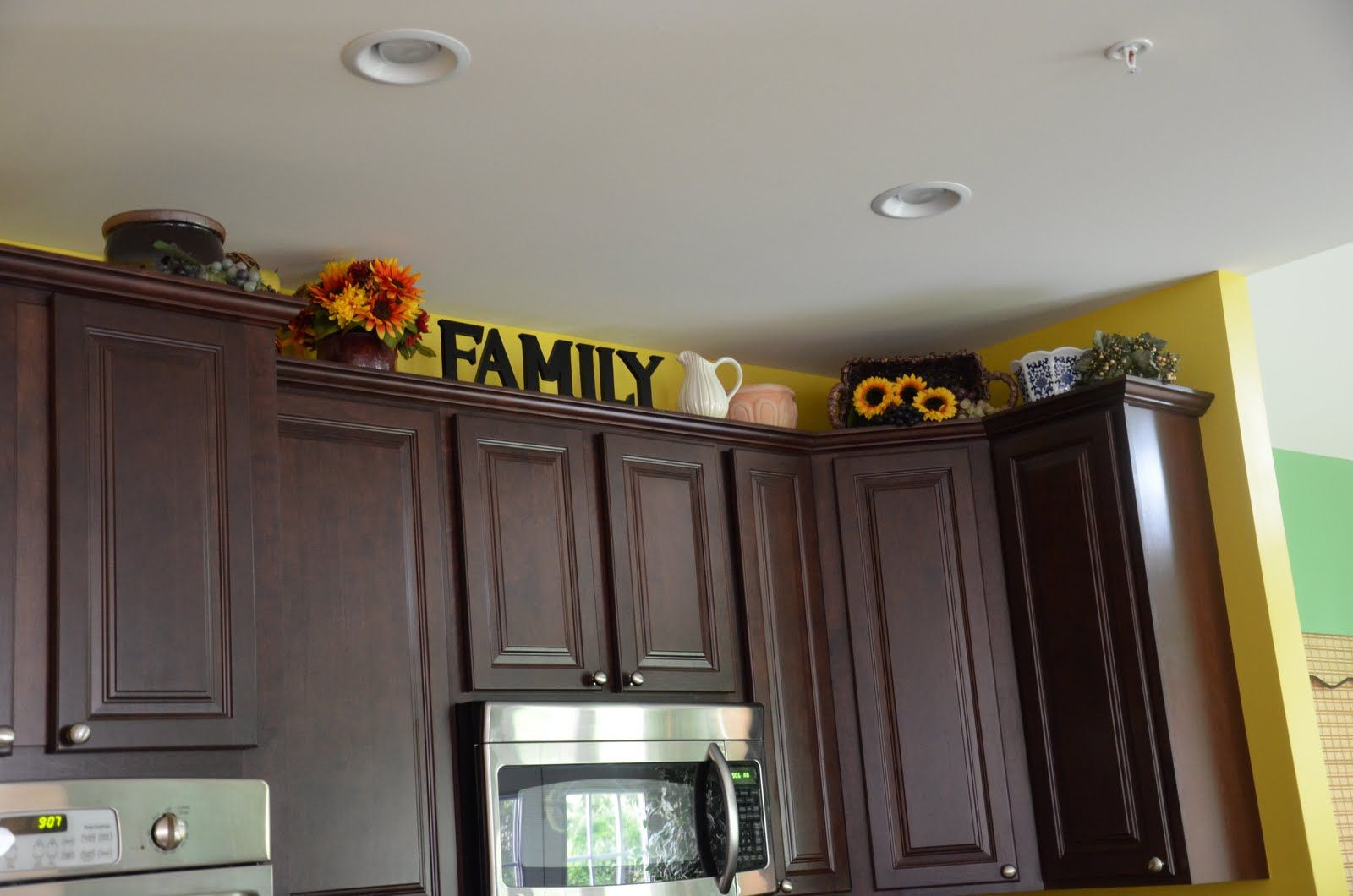 Above The Kitchen Cabinets Ideas Decorating Above