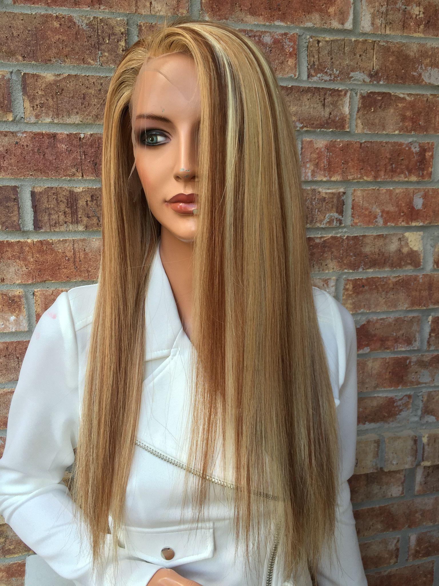 "Copper blonde Full lace wig 16"""