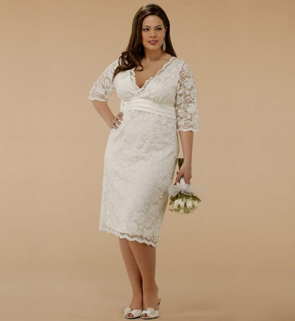 Ordinaire Plus Size Casual Wedding Dresses With Sleeves   Cold Shoulder Dresses For  Wedding