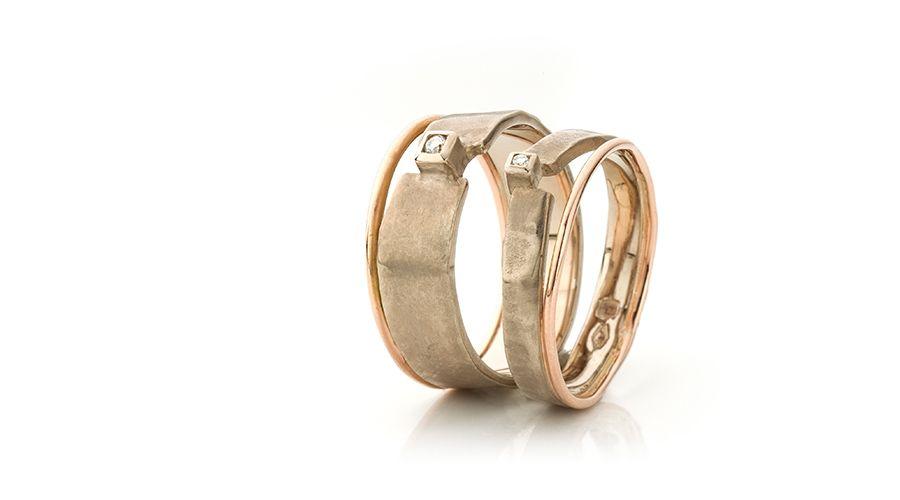Originele Unieke Zilveren Gouden Witgouden Trouwringen