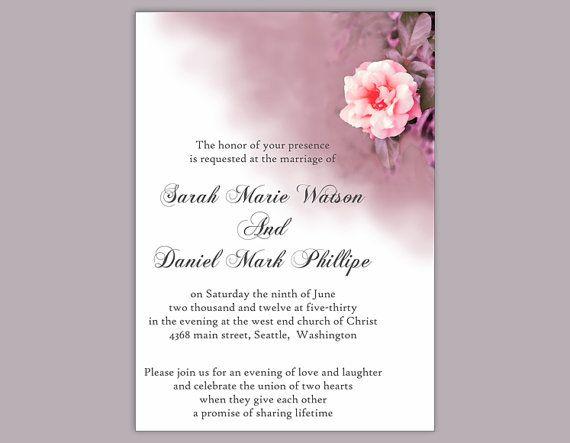 DIY Wedding Invitation Template Editable Word File Download - invitation template for word