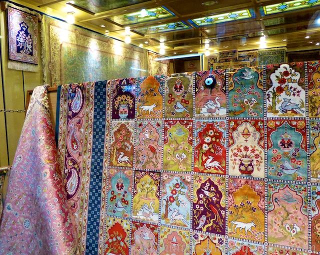 Carpets for sale in the Grand Bazaar, Istanbul, Turkey