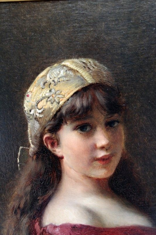 KONSTANTIN MAKOVSKY, OIL ON CANVAS BOARD, 1883 : Lot 122003