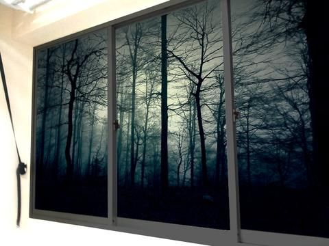 Creative Misty Forest Themed Window Sticker ON SALE NOW Only With - Window stickers for home singapore