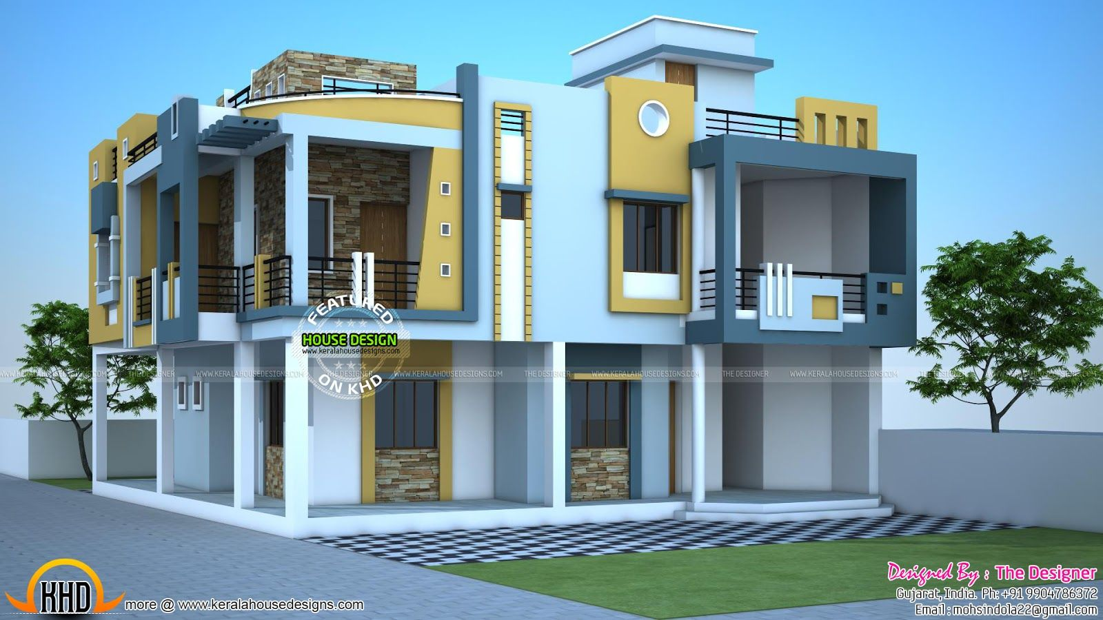 Modern Duplex House India Kerala Home Design And Floor Plans Plan Drawings Provider