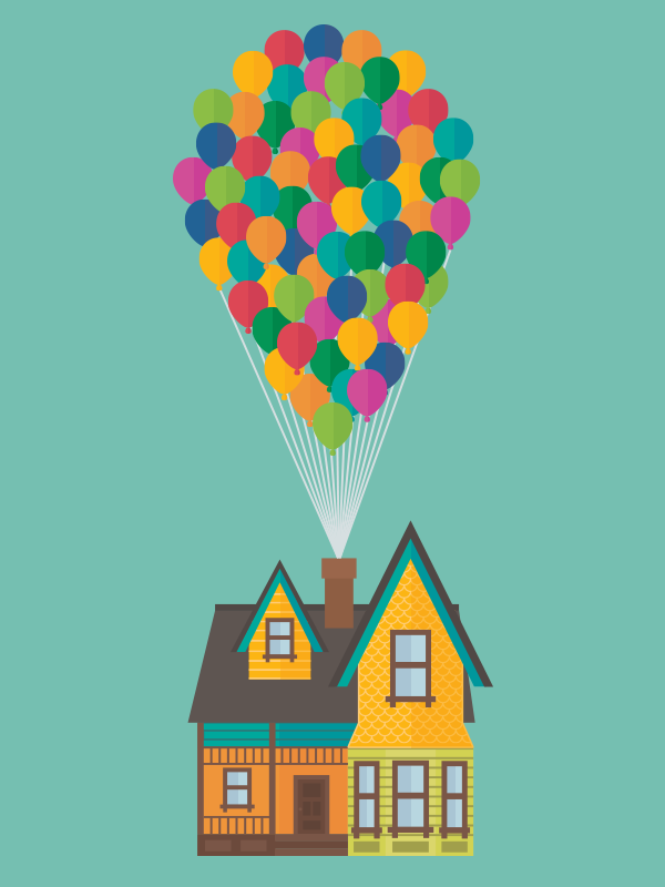 Custom Illustration. The house from UP! #Illustration # ... Up House Pixar Drawing