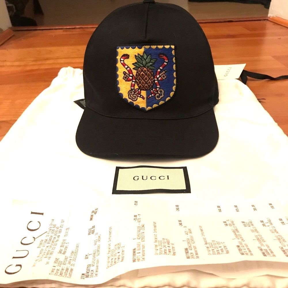 6e62e1dbfe1 GUCCI  Pineapple Crest  Baseball Cap Hat Black 100% AUTHENTIC New w Tags  Receipt  fashion  clothing  shoes  accessories  mensaccessories  hats (ebay  link)