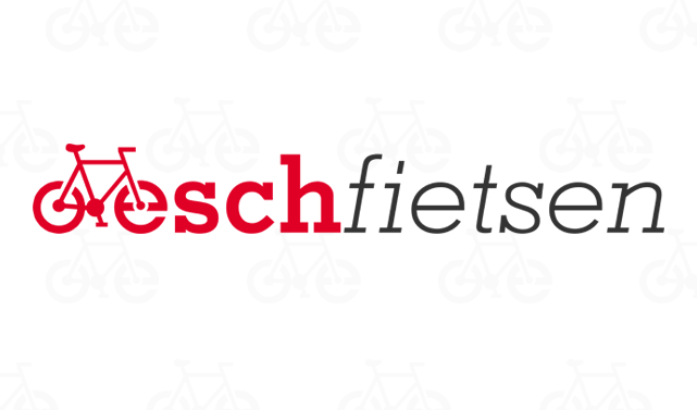 Het nieuwe logo van het fietsbedrijf en webshop eschfietsen.nl