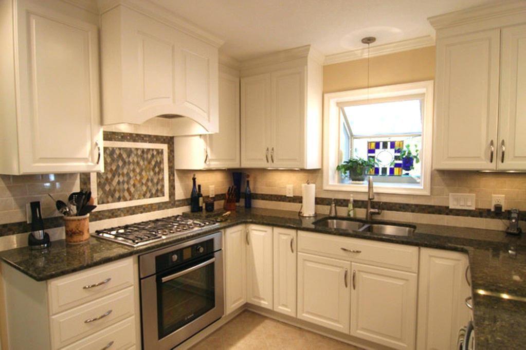Kitchen Cabinets With Black Granite