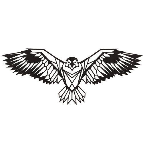 Hokku Designs Eagle Geometric Metal Wall Décor