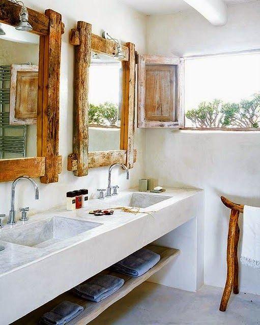 30 ideas de decoración para baños rústicos pequeños | Pinterest ...
