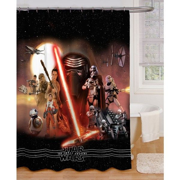 Jay Franco Kylo Ren Star Wars 7 Shower Curtain 27 Liked On