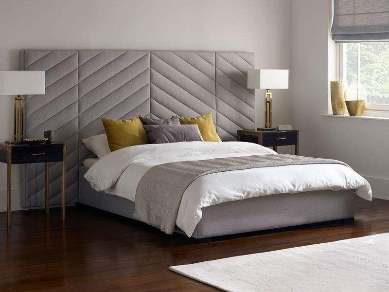 Salvador Art Deco Upholstered Stylish Side Panelled Bed – double